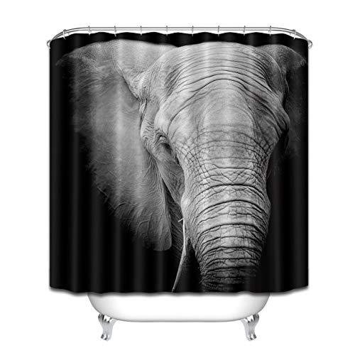 NNAYD1996 Elefante Impresión Digital a Prueba de Agua y Moho