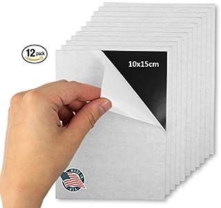 Hojas magnéticas adhesivas flexibles – 10 x 15 cm – Despegar y pegar – ¡Ideal para fotos! – ¡Se recorta a cualquier tamaño! – Pack de 12.