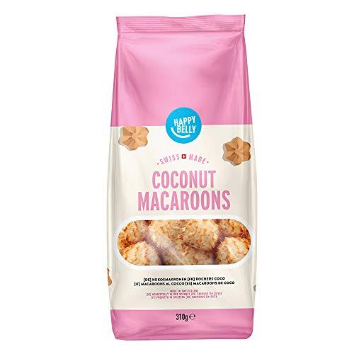 Marque Amazon - Happy Belly - Biscuits suisses Rochers à la noix de coco, Pack de 4 (4 x 310g)