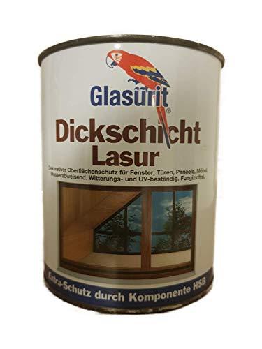 Glasurit - Vernice ad alta densità, per interni ed esterni, 0,75 l, colore a scelta (ruggine leggera)