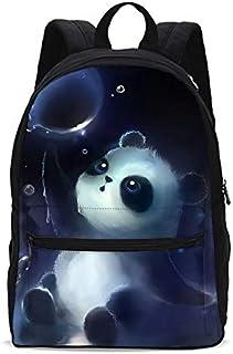 Kids Fantasy Panda Backpacks Girls School Bookbag Shoulder Bag Casual Daypack 18 Inch Laptop Bag for Unisex Women Teens 1-5th Grade