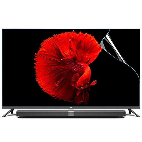 YSHCA 55-60 Zoll TV-Bildschirmschutz, Anti-Blaulicht Schadenschutz Panel Blendfreie Displayschutzfolie Augenschutz für LCD/LED/OLED & QLED 4K HDTV,55Inch/ 1221x689mm