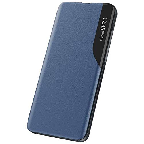 Funda de teléfono móvil para Hauwei P20 Pro, funda Smart Clear View Smartphone Cover funda con función atril, extrafina, antigolpes, funda de piel con tapa azul Talla única