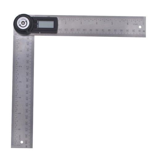 2 in1 Digital Angle Finder Meter Protractor Ruler Rule 360° Measure 2 x 200mm