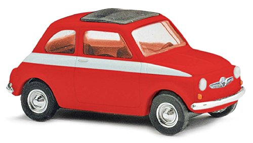 Busch Voitures - BUV48716 - Modélisme - Fiat 500 - Sport - 1965 - Rouge