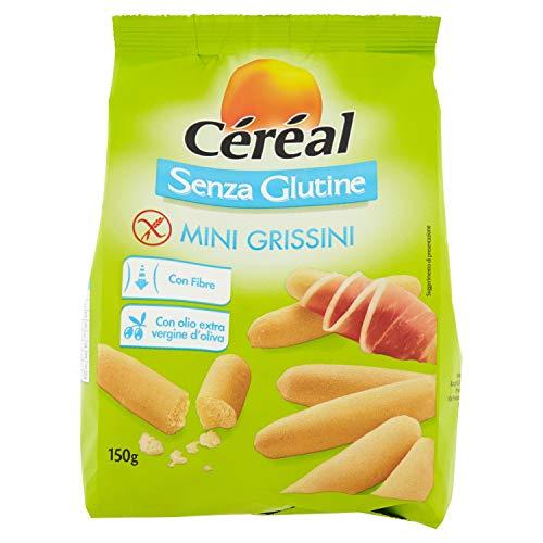 Mini Grissini Senza Glutine - Per snack spuntini o aperitivi Céréal - Confezione da 150 g