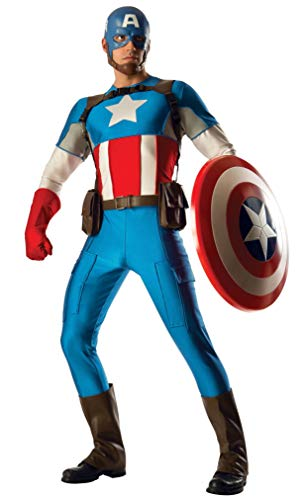 Rubies Marvel Officiel Captain America Costume Grand Heritage Deluxe – Hommes de Taille Adulte