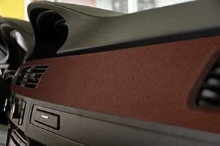 VViViD Brown Leather Suede Vinyl Car Furniture Wrap 7 Feet x 4.60 Feet (53 Inches) Self Adhesive Stretch Decal DIY