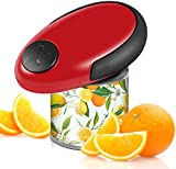 Electric Can Opener, Portable Battery Operated Can Opener for Kitchen, Food-Safe Handheld Automatic...