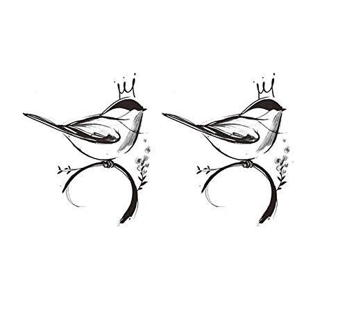 4 feuilles oiseau temporaire tatouage autocollants Body Art pour la partie de Costume Cosplay couvrant les cicatrices