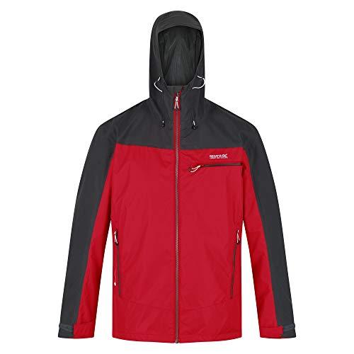 Regatta Highton Shell Jacket, ChinseRd/Ash, Large Mens