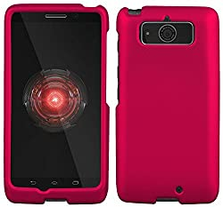 powerful Motorola Droid Mini XT1030 Case-Pink Rubber Coated Hard Rock Case (Verizon)