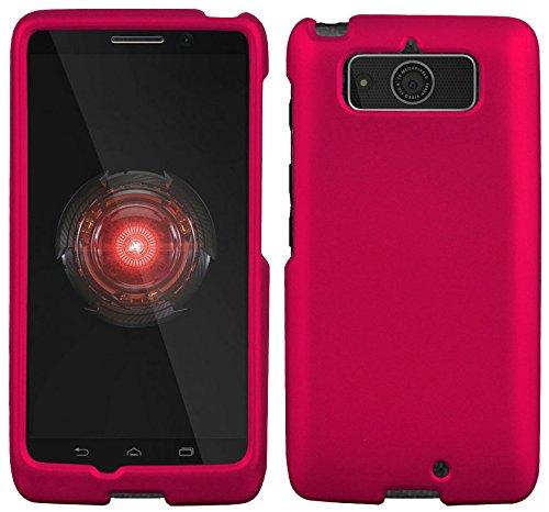 Motorola Droid Mini XT1030 Case - Pink Rubber Feel coated Hard Snap-On Cover (Verizon)