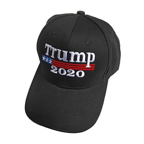 LIOOBO Mode American Election Baseball Cap 2020 Trump Baseball Cap für Damen Herren (Schwarz)