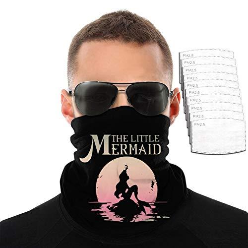 The Little Mermaid Ariel Rock Moon - Toalla para la cara para hombre y mujer, resistente al viento, transpirable, variedad