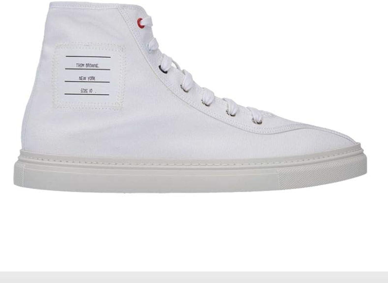 THOM BROWNE BROWNE BROWNE Herren Mfb138a04809100 Weiss Baumwolle Hi Top Sneakers B07PV4Q7VJ  306ed4