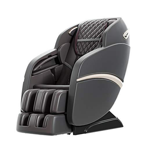 cysum Sillón de masaje automático, sillón reclinable de masaje de acupuntura 3D, masaje de cuerpo completo y amasado Sillón de masaje multifuncional, sofá eléctrico (Negro)