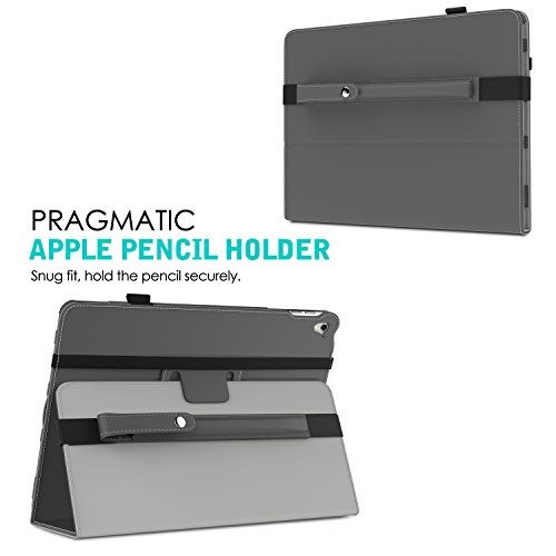 MoKo Pencil Case Holder for Apple Pencil - PU Leather Elastic Pencil Pocket Sleeve Detachable Pouch Cover for Apple Pencil, Fit iPad Pro 9.7 Inch Cases and iPad Pro 10.5 Inch Cases, Space GRAY