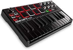 Akai Professional MPK Mini MKII | 25 Key USB MIDI Keyboard Controller With 8 Drum Pads and Pro Software Suite Included –...