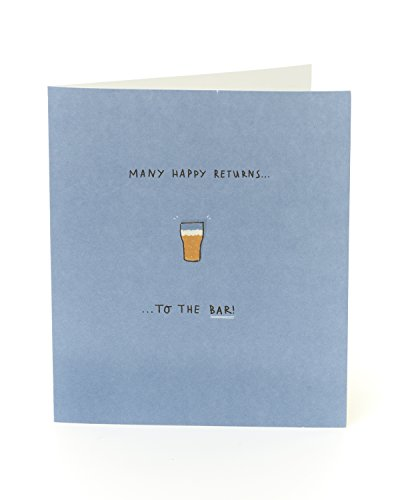Funny Humorvolle Bier Geburtstag Karte – Many Happy Returns