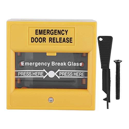 Redxiao Botón de Emergencia de Puerta, botón de Alarma de Salida de Emergencia de Incendio Botón de Alarma de Apertura de Cristal de Seguridad de liberación para Seguridad del hogar