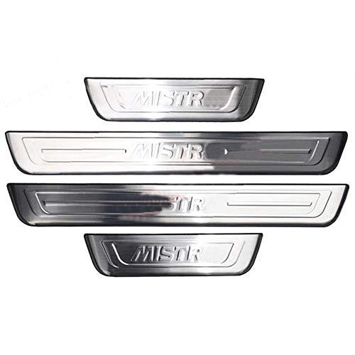4 Unids Coche Tiras Umbral Acero Inoxidable para Hyundai Mistra 2014-2019, Protección Automóviles Desgaste Puerta Door Sill Originales Accesorios Diseño Styling Embellecedores Engomada