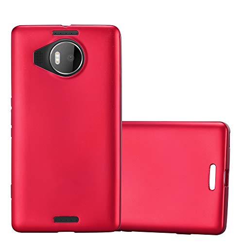 Cadorabo Custodia per Nokia Lumia 950 XL in ROSSO METALLICO - Morbida Cover Protettiva Sottile di Silicone TPU con Bordo Protezione - Ultra Slim Case Antiurto Gel Back Bumper Guscio
