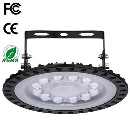 XYD 50W LED UFO Industrielampe Hallenleuchte 6000-6500K Industrial Kronleuchter Hallenstrahler Werkstattbeleuchtung Abstrahlwinkel 120°