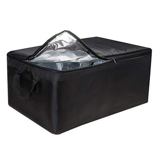 achilles Grande sacca di raffreddamento Inserto di raffreddamento Borsa termica Scatola pieghevole Isolamento per il trasporto di alimenti caldi e freddi nero, 57cm x 37 cm x 25 cm
