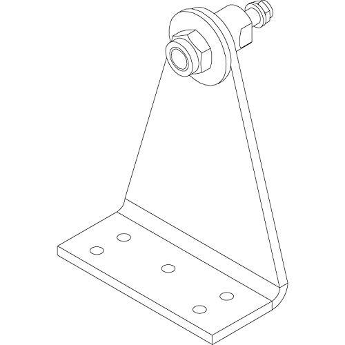 HAUTAU Winkelkonsole WK3 zu Spindelantrieb, Aluminium silber eloxiert