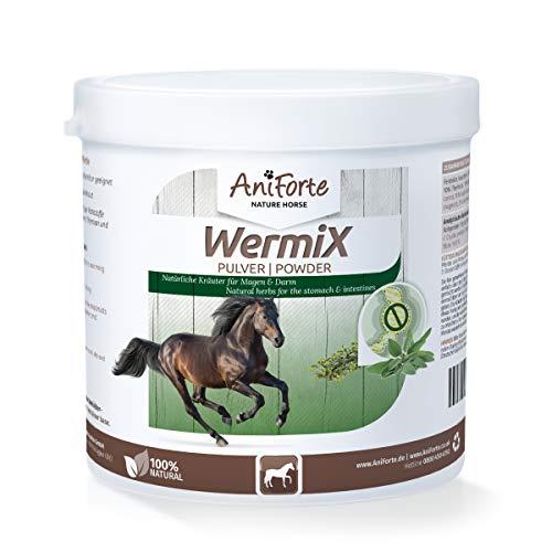 AniForte WermiX Pulver für Pferde und Ponys 250g - Naturprodukt nach Wurmbefall mit Saponine, Bitterstoffe, Gerbstoffe, Wermut, Naturkräuter harmonisieren Magen & Darm