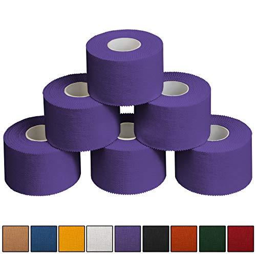 ALPIDEX 6 x Sport-Tape 3,8 cm x 10 m, Farbe:lila