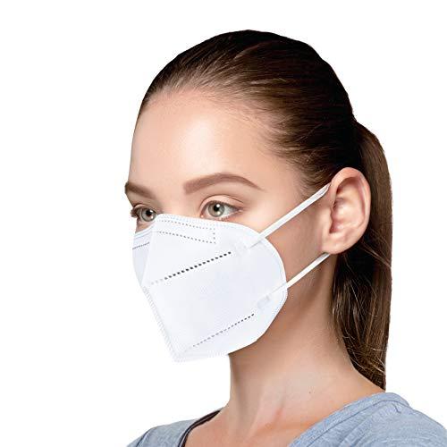 Kanglilai 20 x FFP2 Atemschutzmaske, EU CE 2163 zertifizierte Masken, Partikelfiltermaske, im einzel PE-Beutel Mundschutzmaske - Weiß