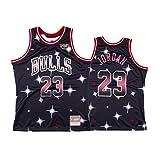 OKMJ Bulls #23 Jersey para hombre, Jordania Baloncesto Retro Bordado, Baloncesto Swingman Jersey Malla Transpirable y Secado Rápido Starry negro-XXL