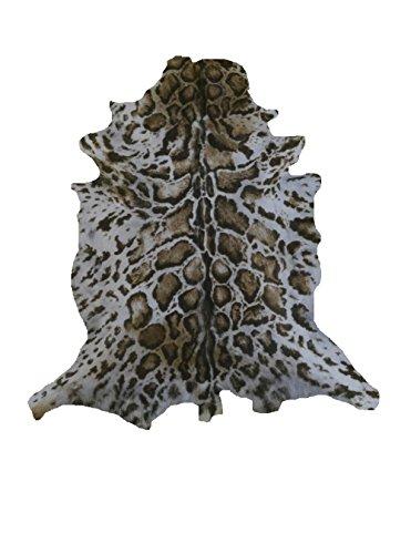 Zerimar Alfombra Piel de Cabra Natural Premium | Medidas: 105x80 cms | Estampada imitación ocelote | Alfombra Salón | Alfombra Salón Grandes | Alfombras de Pelo