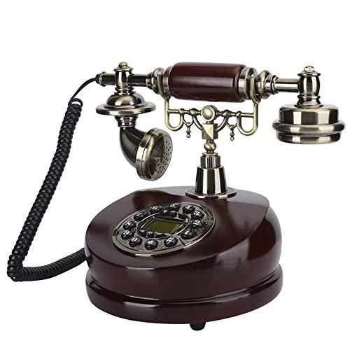 Retro-Telefon, Harz Dual-Use antike Handwerk Dekoration Zifferblatt Altes europäisches Telefon antikes Telefon, Keine Externe Stromversorgung erforderlich, Schnellsuche, Rückruf