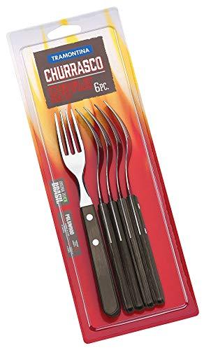 Tramontina 29899/161 Art.no. 29899/161 Lot de 6 fourchettes Jumbo en acier inoxydable Multicolore