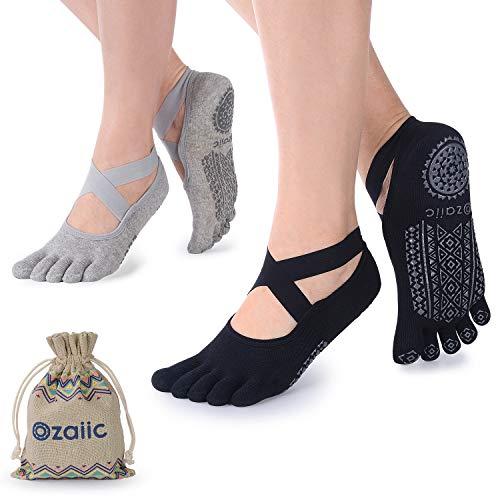 Ozaiic Femmes Yoga Chaussettes, Chaussettes de...