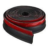 xiegons0 Universale Garage Porta Entrata Sigillo Porta Draft Blocker Fondo Guarnizione per Tappo Tempo Stripping Rumore Soundproof - Nero+Rosso, 5m