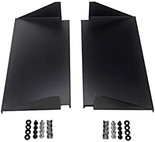 DynaCable 2 Pack of 2U 19-Inch Universal Cantilever Server Shelves Rack Mounts, 10 Inch Depth - Mounting Screws Included