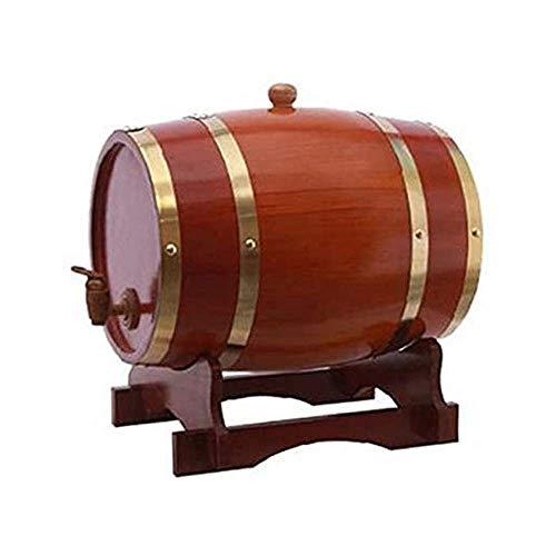 ROSG Dispensador de Barril de Whisky de 5 litros Decantador de Barril de Vino de Madera de Roble para Mesa de Servicio Exhibición de Acento en el hogar Almacenamiento de licores, licores, WH