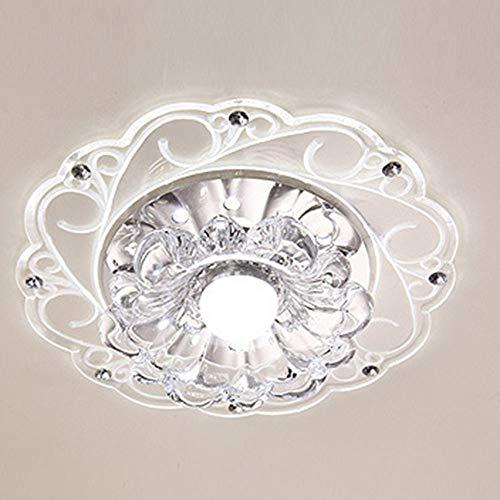 WHSS Pasillo De Cristal Moderno Y Sencillo Luces del Pasillo De Entrada Circular De Iluminación De La Lámpara En Casa Salón LED Luces De Techo (20 * 3.5cm)