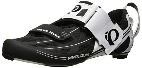 PEARL IZUMI 15117002509460 - Zapatillas ciclismo, 46, Blanco - Negro, Hombre