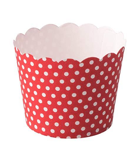 Demmler Vasos de cartón para helados y muffins, fabricados en Alemania (rojo...