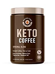 PREMIUM ORGANIC COFFEE: Made with great-tasting Organic Green Mountain Coffee, Organic Grass Fed Butter, MCTs from coconut oil, and a touch of Himalayan salt for a satisfying, nutritious, fat-burning, and low-carb coffee with robust flavor KETO & PAL...