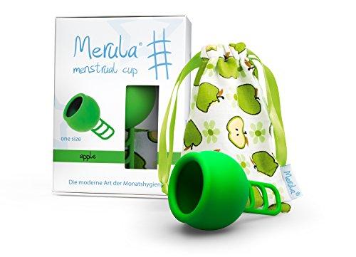 Merula Cup apple (grün) - One size Menstruationstasse aus medizinischem Silikon