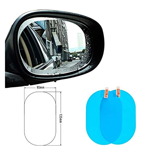 YINQIU Neu 2ST 95x135mm Auto-Seiten-Spiegel wasserdichter Anti-Fog Film Seitenfensterglas Film mit Schaber-Reinigungstuch nass Wiper