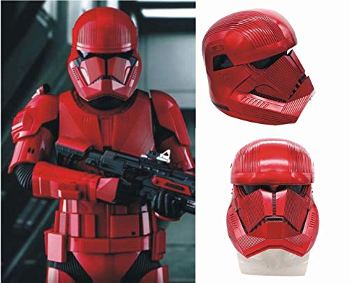 Sith Trooper Mask with Voice Changer, Red Trooper Full Head Mask PVC Helmet Toy Cosplay Adults