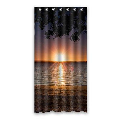 Dalliy Brauch sonnenuntergang Wasserdicht Polyester Shower curtain Duschvorhang 90cm x 183cm