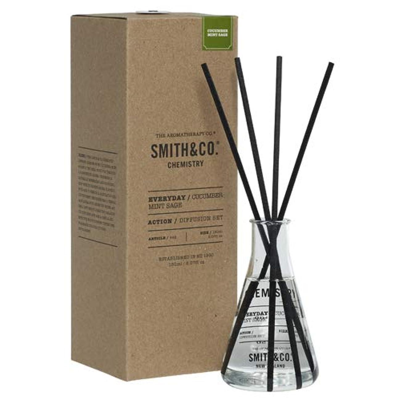 堂々たるうねる柔らかい足アロマセラピーカンパニー(Aromatherapy Company) Smith&Co. スミスアンドコー Chemistry Diffuser ケミストリーディフューザー Cucumber Mint Sage キューカンバー ミント セージ